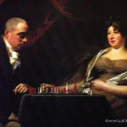 《弗朗西斯和他的妻子伊麗莎·鄧達斯卡明的肖像》亨利·雷本(Henry Raeburn)高清作品欣賞