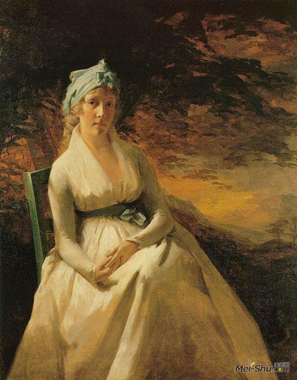 亨利·雷本(Henry Raeburn)高清作品《安得烈夫人画像》