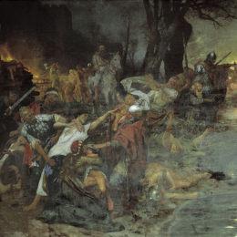 《塞利斯西亞戰役中的勇士》亨里克·西米拉斯基波蘭(Henryk Siemiradzki)高清作品欣賞