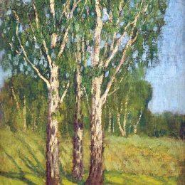 《樺樹景觀》伊戈爾·格拉巴爾(Igor Grabar)高清作品欣賞