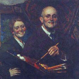 《妻子的自畫像》伊戈爾·格拉巴爾(Igor Grabar)高清作品欣賞