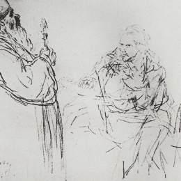 《拒絕懺悔》伊利亞·葉菲莫維奇·列賓(Ilya Repin)高清作品欣賞