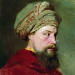 《看守人的頭。十九世紀的后半部分》伊利亞·葉菲莫維奇·列賓(Ilya Repin)高清作品欣賞