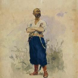 《扎波羅熱人牌汽車》伊利亞·葉菲莫維奇·列賓(Ilya Repin)高清作品欣賞