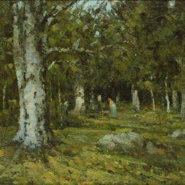 《在森林里》恩·安德烈斯丘(Ion Andreescu)高清作品欣賞