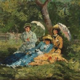 《在公園里》恩·安德烈斯丘(Ion Andreescu)高清作品欣賞