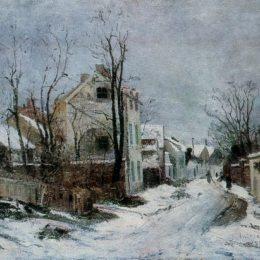 《巴比松的冬天》恩·安德烈斯丘(Ion Andreescu)高清作品欣賞