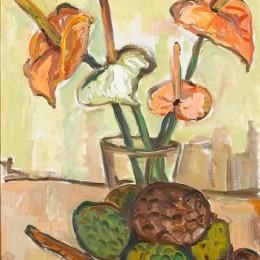 《蜜桔與水果的靜物》伊爾瑪·斯特恩(Irma Stern)高清作品欣賞