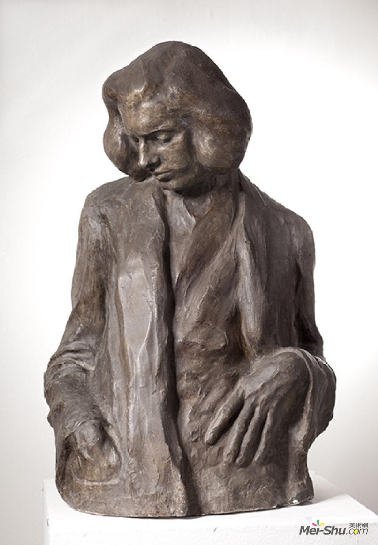伊万·梅斯特罗维奇(Ivan Mestrovic)高清作品《Portrait of Tomislav Krizman》