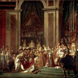 《拿破侖皇帝的奉獻與加冕禮》雅克-路易·大衛(Jacques-Louis David)高清作品欣賞
