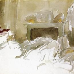 《臥床休息》詹姆斯·阿博特·麥克尼爾·惠斯勒(James McNeill Whistler)高清作品欣賞