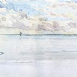 《海景,迪耶普》詹姆斯·阿博特·麥克尼爾·惠斯勒(James McNeill Whistler)高清作品欣賞