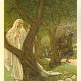 《基督出現在圣彼得身上》詹姆斯·天梭(James Tissot)高清作品欣賞