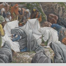 《圣母在他是恩施羅之前親吻了耶穌的面孔》詹姆斯·天梭(James Tissot)高清作品欣賞
