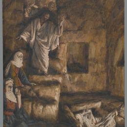 《拉撒路的復活》詹姆斯·天梭(James Tissot)高清作品欣賞