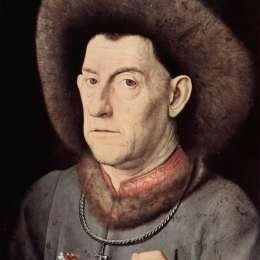 《康乃馨的畫像》揚·凡·艾克(Jan van Eyck)高清作品欣賞