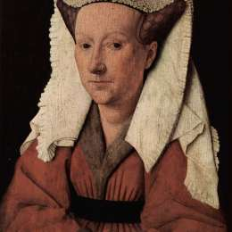 《瑪格麗特范艾克的肖像》揚·凡·艾克(Jan van Eyck)高清作品欣賞
