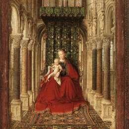 《小型三聯(中央面板)》揚·凡·艾克(Jan van Eyck)高清作品欣賞