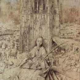 《圣巴巴拉》揚·凡·艾克(Jan van Eyck)高清作品欣賞