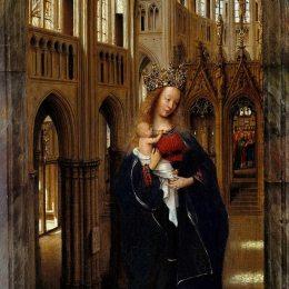 《麥當娜在教堂里》揚·凡·艾克(Jan van Eyck)高清作品欣賞