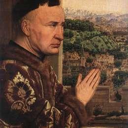 《大臣羅林的處女(細節)》揚·凡·艾克(Jan van Eyck)高清作品欣賞