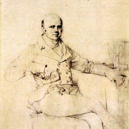 《約翰羅素,貝德福德第六任公爵》讓·奧古斯特·多米尼克·安格爾(Jean Auguste Dominique Ingres)高清作品欣賞