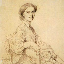 《夫人古諾出生的安娜,齊默爾曼》讓·奧古斯特·多米尼克·安格爾(Jean Auguste Dominique Ingres)高清作品欣賞