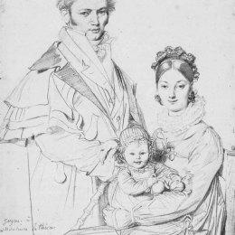 讓·奧古斯特·多米尼克·安格爾(Jean Auguste Dominique Ingres)高清作品:The Alexandre Lethiere Family