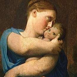 讓·奧古斯特·多米尼克·安格爾(Jean Auguste Dominique Ingres)高清作品:Woman and Child. Study for the Martyrdom of Saint Symphorien