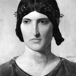 《羅馬的女人肖像》讓·萊昂·熱羅姆(Jean-Leon Gerome)高清作品欣賞