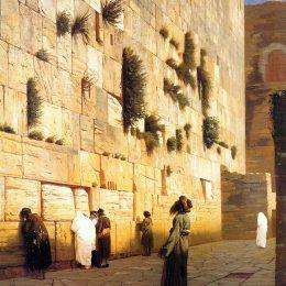 《耶路撒冷的所羅門墻》讓·萊昂·熱羅姆(Jean-Leon Gerome)高清作品欣賞