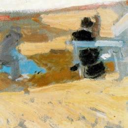 《圣塞瓦斯蒂安海灘上的女人》華金·索羅拉(Joaqu&amp#237n Sorolla)高清作品欣賞