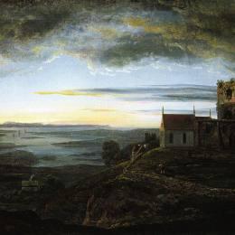 《阿瓦爾斯內斯教會》約翰·克里斯蒂安·代赫勒(Johan Christian Dahl)高清作品欣賞
