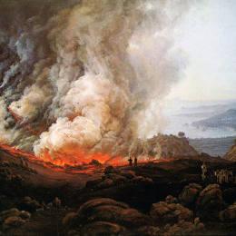 《維蘇威火山爆發》約翰·克里斯蒂安·代赫勒(Johan Christian Dahl)高清作品欣賞