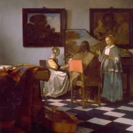 《音樂會》約翰內斯·維米爾(Johannes Vermeer)高清作品欣賞