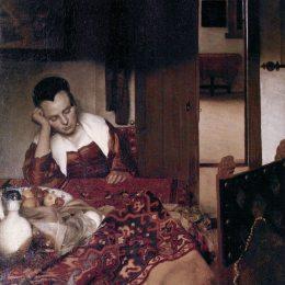 《睡著的女仆》約翰內斯·維米爾(Johannes Vermeer)高清作品欣賞