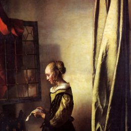 《在開窗上看書的女孩》約翰內斯·維米爾(Johannes Vermeer)高清作品欣賞