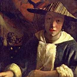 《長笛女孩》約翰內斯·維米爾(Johannes Vermeer)高清作品欣賞