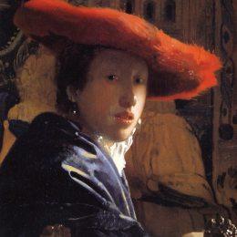 《戴著紅帽子的女孩》約翰內斯·維米爾(Johannes Vermeer)高清作品欣賞