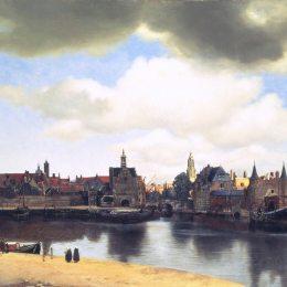 《代爾夫特觀》約翰內斯·維米爾(Johannes Vermeer)高清作品欣賞