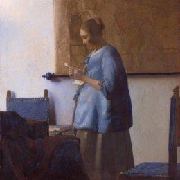 《讀信的女人(藍色的女人讀一封信)》約翰內斯·維米爾(Johannes Vermeer)高清作品欣賞