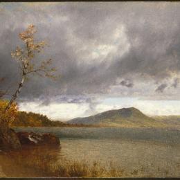 《喬治湖》約翰·馮檢基·肯西特(John Frederick Kensett)高清作品欣賞