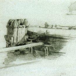 《艙壁船》約翰·亨利·特瓦克特曼(John Henry Twachtman)高清作品欣賞