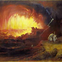 《所多瑪和蛾摩拉的毀滅》約翰·馬丁(John Martin)高清作品欣賞
