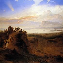 《洪水的前夜》約翰·馬丁(John Martin)高清作品欣賞