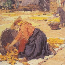 《陽光下的玉米》何塞·馬奧(Jose Malhoa)高清作品欣賞