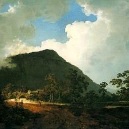 《貝德蓋爾特附近的風景》約瑟夫·萊特(Joseph Wright)高清作品欣賞