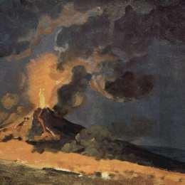 《維蘇威火山爆發》約瑟夫·萊特(Joseph Wright)高清作品欣賞