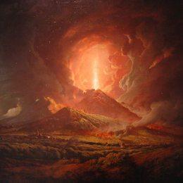 《維蘇威火山從拱廊》約瑟夫·萊特(Joseph Wright)高清作品欣賞