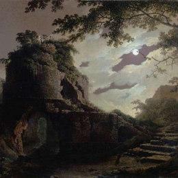 《維吉爾墓》約瑟夫·萊特(Joseph Wright)高清作品欣賞